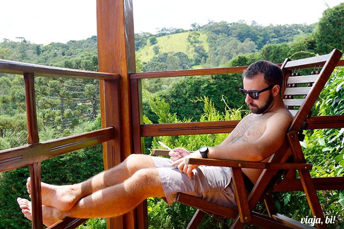 Eu trabalhando em paz - Foto: Emerson Lisboa / Viaja Bi!