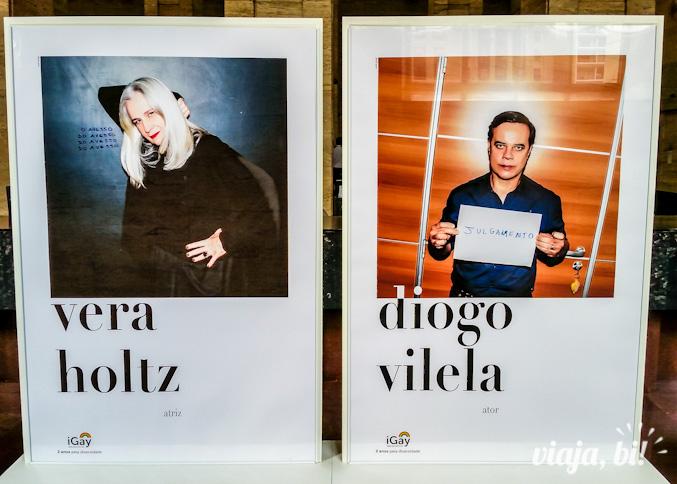 Vera Holtz e Diogo Vilela, mas 2 das 50 vozes que compõe a exposição