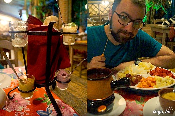 Couvert e fondue no Restaurante Santa Truta - Foto: Emerson Lisboa / Viaja Bi!