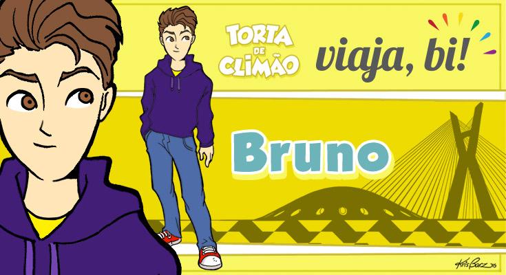 Bruno, o protagonista do Torta de Climão, é de São Paulo (Ilustração: Kris Barz / Torta de Climão)