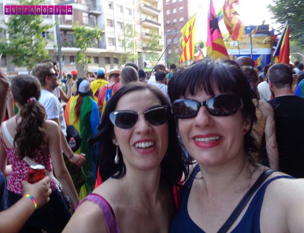 As meninas do blog Estrangeira na Pride Barcelona 2015, a Parada LGBT de Barcelona
