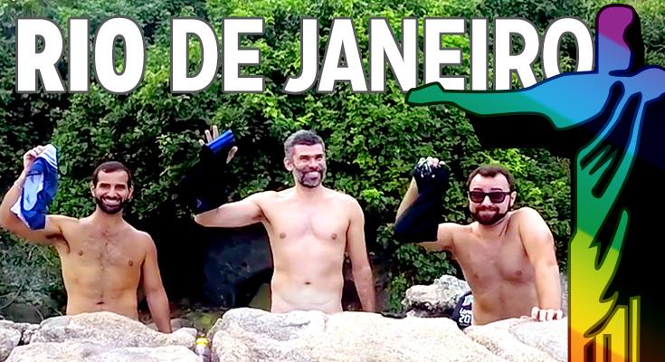 Rio de Janeiro gay em vídeo - praia de nudismo