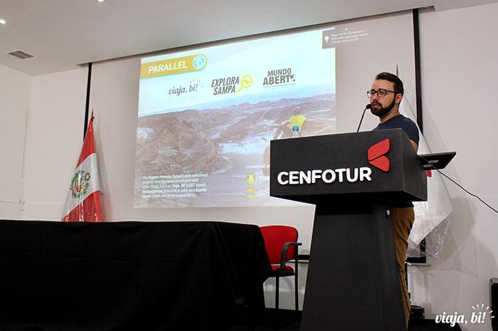 O Viaja Bi! estava presente nos Seminários Internacionais que apresentei aqui no Peru