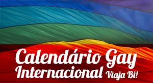 Calendário Gay Internacional Viaja Bi!
