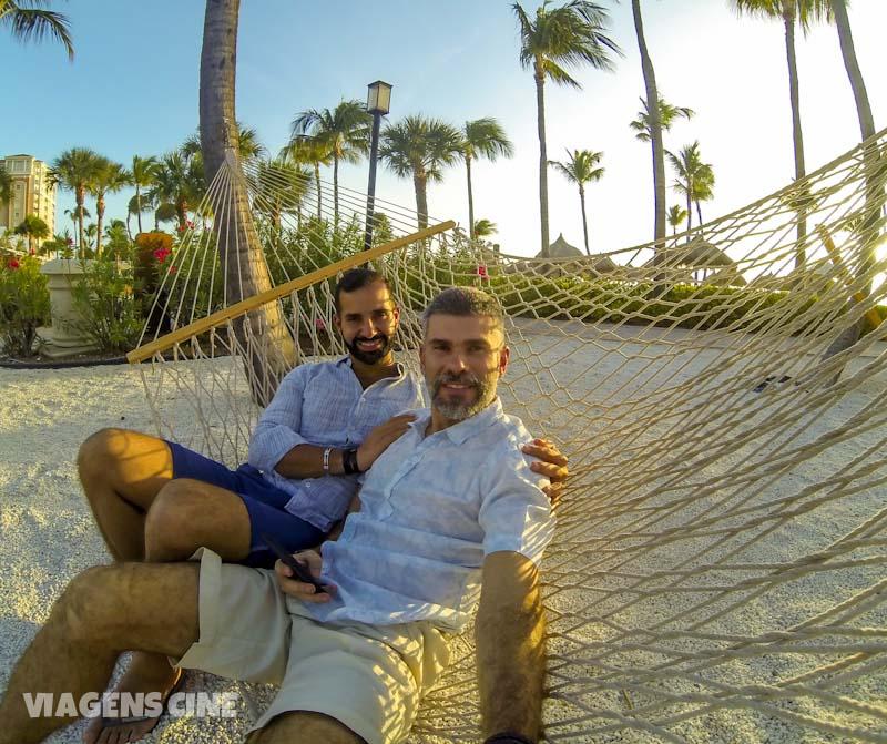 Fabio e Cleber em Aruba, no Caribe - Foto: Fabio Pastorello (Viagens Cine)
