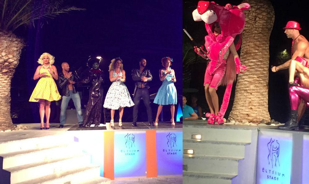 Produzidos shows de drag queens animam a noite no hotel gay Elysium Hotel