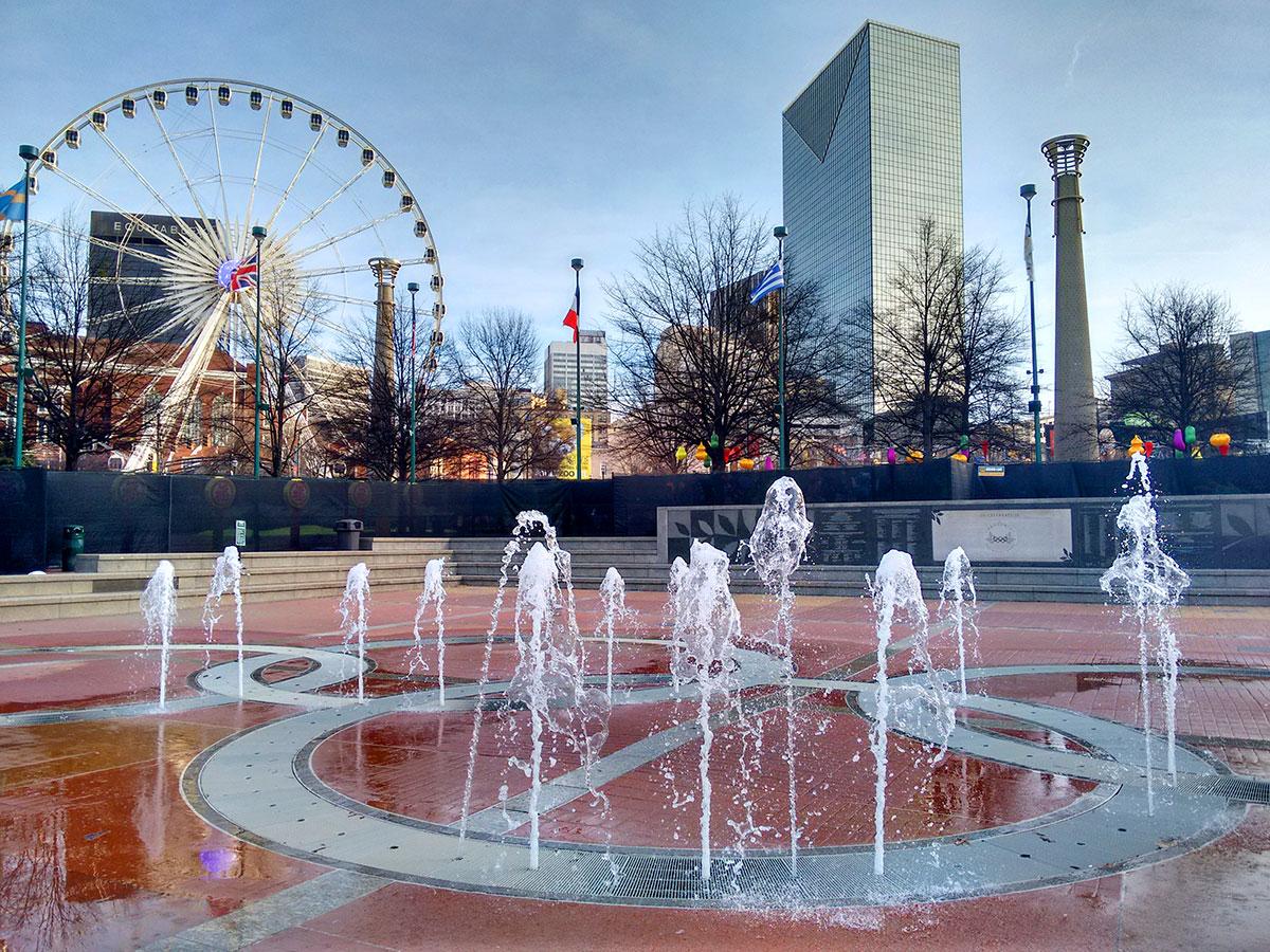 Centennial Olympic Park, de Atlanta - Foto: Clovis Casemiro