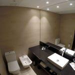 Banheiro do meu quarto no Puerto Norte Design Hotel