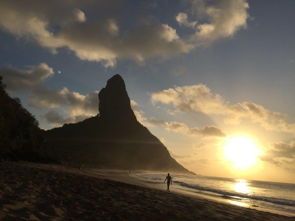 Pôr do sol em Fernando de Noronha - Foto: Antonio e André