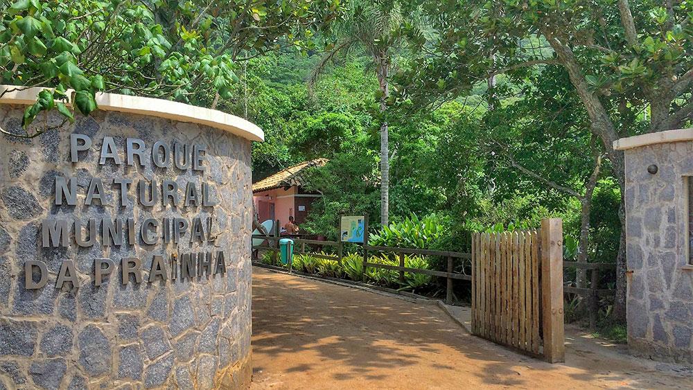 Entrada do Parque Nacional da Prainha e da trilha do Mirante do Caeté - Foto: Jeff Slaid