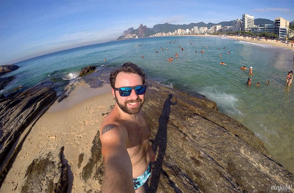 Brasil gay friendly: Selfie no Arpoador, entre Ipanema e Copacabana, no Rio de Janeiro