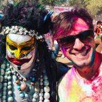 Holi Festival: Antonio na empolgação - Foto: Antonio & André