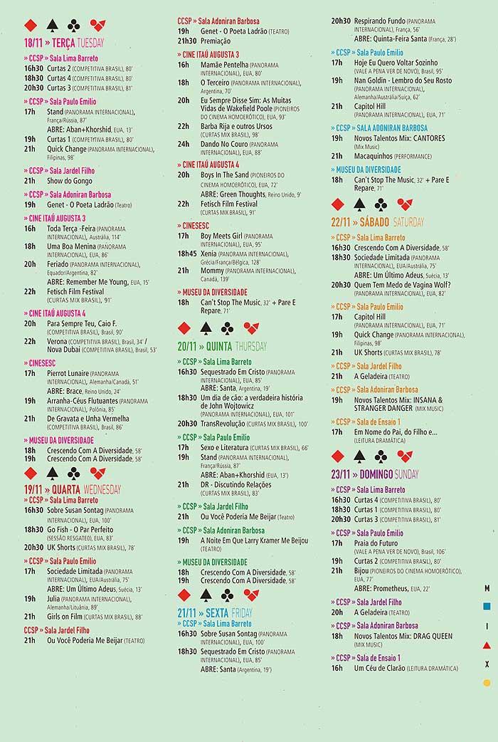 Programação Festival Mix Brasil