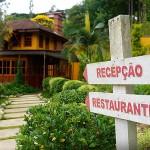 Entrada da recepção e restaurante da Pousada Quatro Estações - Foto: Emerson Lisboa / Viaja Bi!