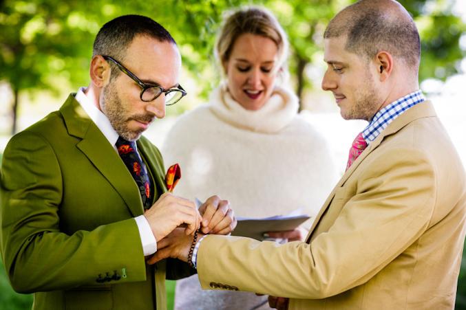 O casamento de Ryan e Kevin aconteceu nos arredores de Chicago
