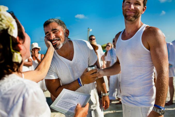Um dos momentos da cerimônia de casamento de Carlos e Dany em Los Roques