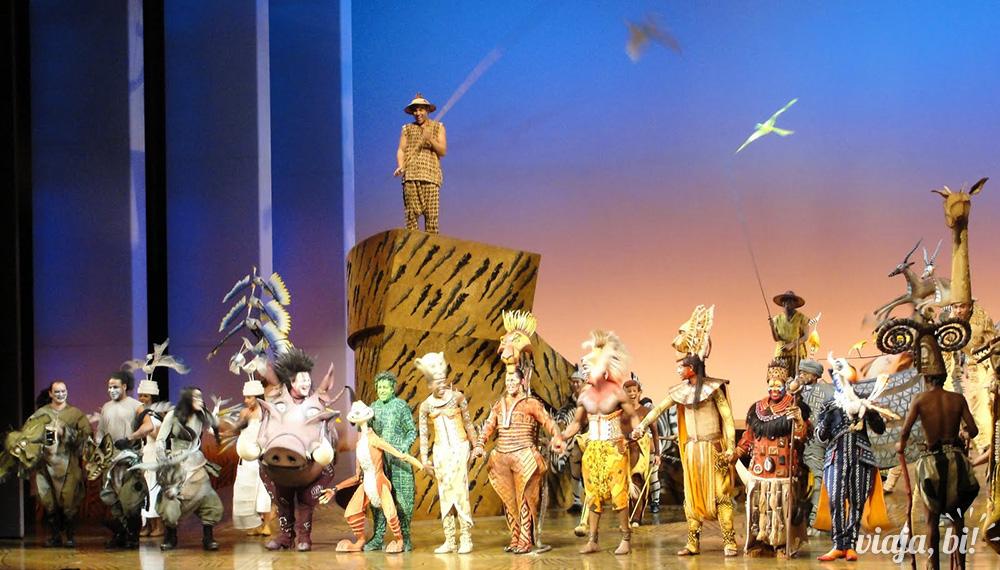Final de O Rei Leão, musical fixo em Londres, no Lyceum Theatre