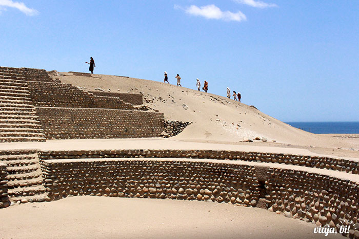 Complexo Arqueológico de Bandurria, no Peru, com encenação