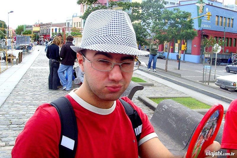 No bairro La Boca em 2008, sem barba