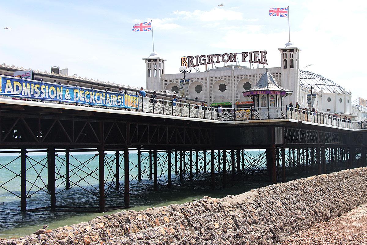 Brighton Pier, o principal ponto turístico da cidade - Tour gay Piers & Queers