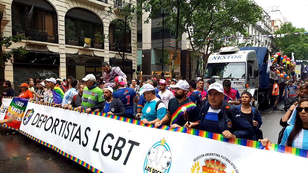 Grupo de esportistas LGBT