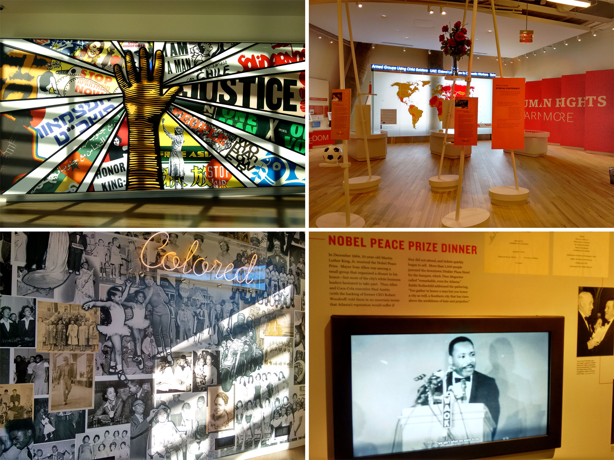 Center for Civil and Human Rights (Museu de Direitos Humanos e Civis), em Atlanta - Foto: Clovis Casemiro