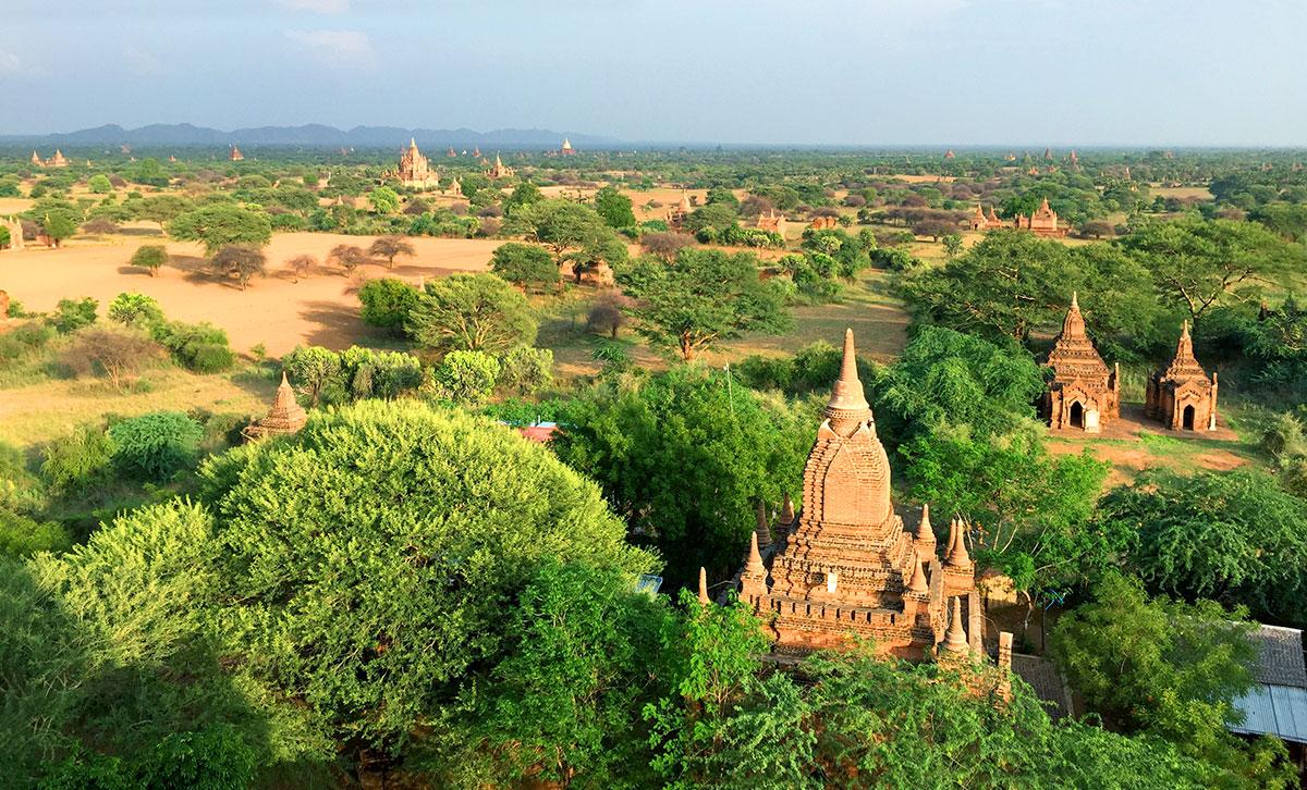 Região dos 2000 templos, em Myanmar, na Ásia