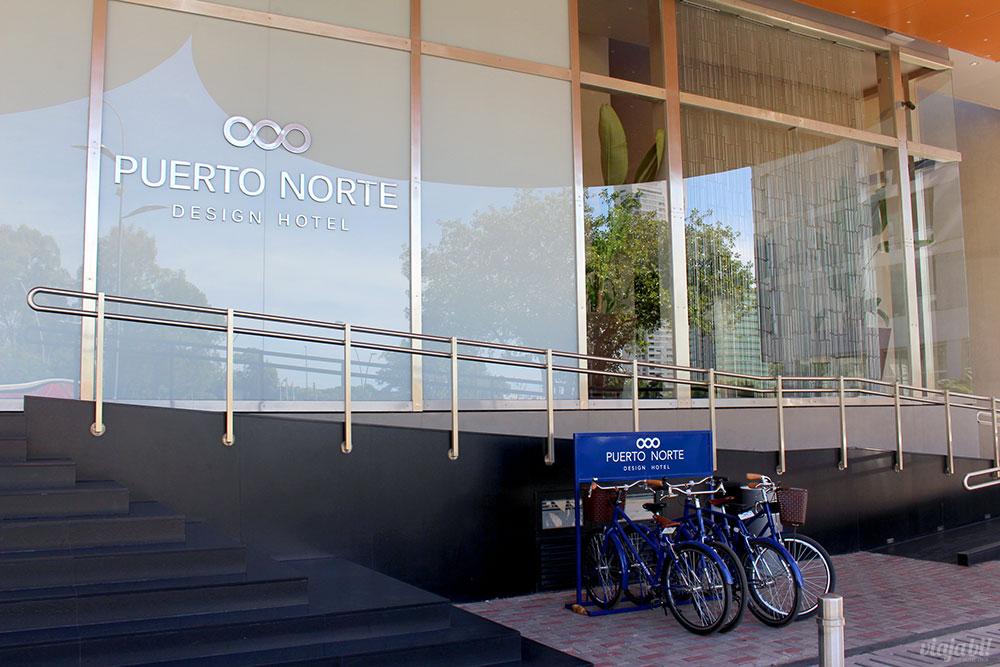 Hóspedes do Puerto Norte Design Hotel, em Rosário (Argentina), tem bicicletas à disposição