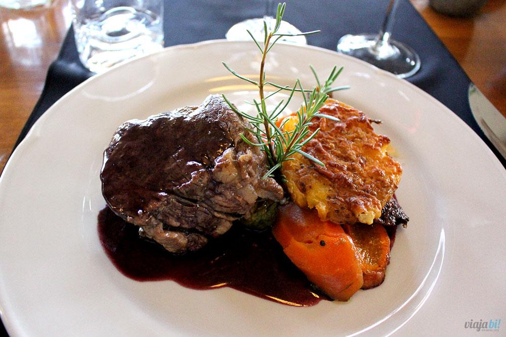 A melhor carne da viagem, no restaurante da Posada Salentein, em Mendoza