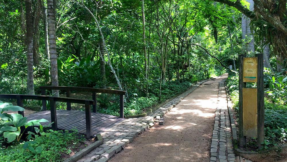 A trilha para o Mirante do Caeté é bem sinalizada com placas - Foto: Jeff Slaid