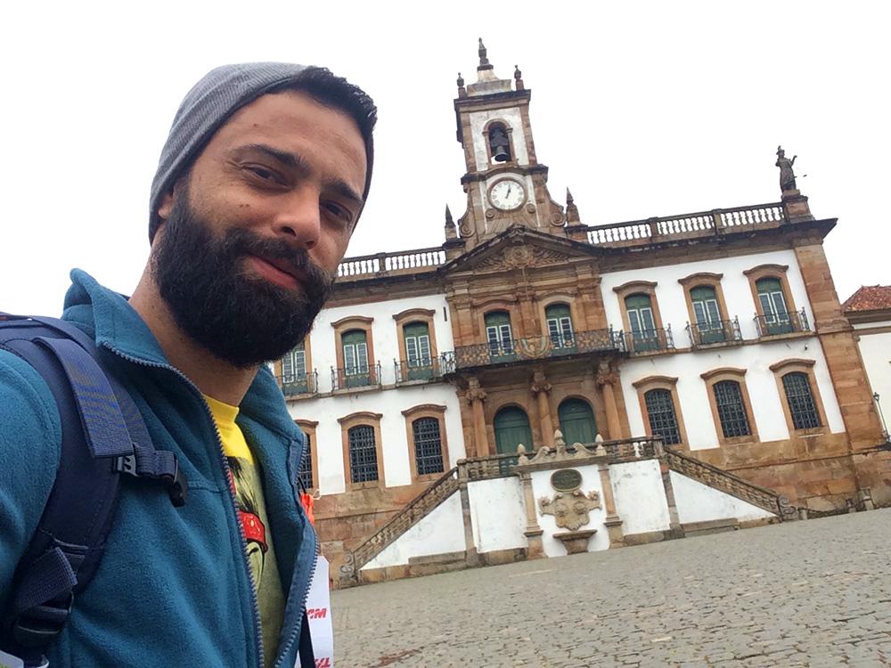 Praça Tiradentes com o Museu da Inconfidência ao fundo