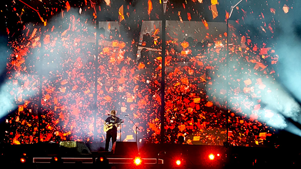 Ed Sheeran no show ÷ (Divide), em São Paulo