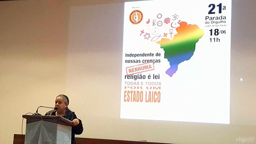Parada LGBT de SP anunciou tema desse ano com a presidente da Associação da Parada