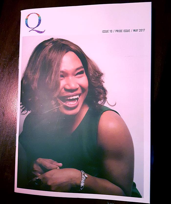 Phnom Pehn, capital do Camboja: Capa da Q de maio, com Rolin, uma celebridade trans local - Foto: Marta Dalla Chiesa