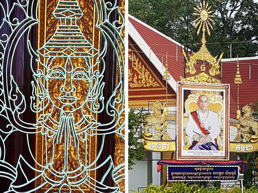 Detalhes da Residência do Rei no Palácio Real de Phnom Pehn, capital do Camboja - Foto: Marta Dalla Chiesa