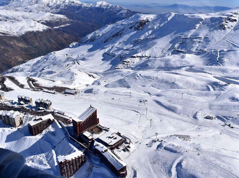 Valle Nevado Ski Resort visto do alto - Foto: Divulgação
