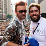 Lucio Serrano e Marcelo Gallego na Parada LGBT São Paulo 2017