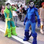 Perfomances e artistas circenses ocuparam parte da Parada LGBT São Paulo 2017