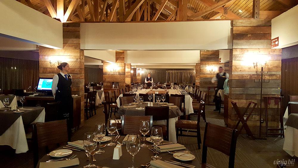 Restauranet La Fourchette, de culinária francesa, que fica no Hotel Valle Nevado, o 5 estrelas do resort