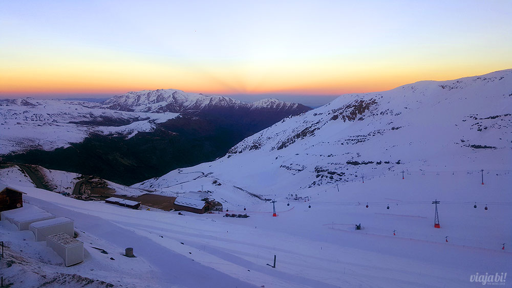 Pôr do sol no Valle Nevado é uma das coisas mais lindas do mundo