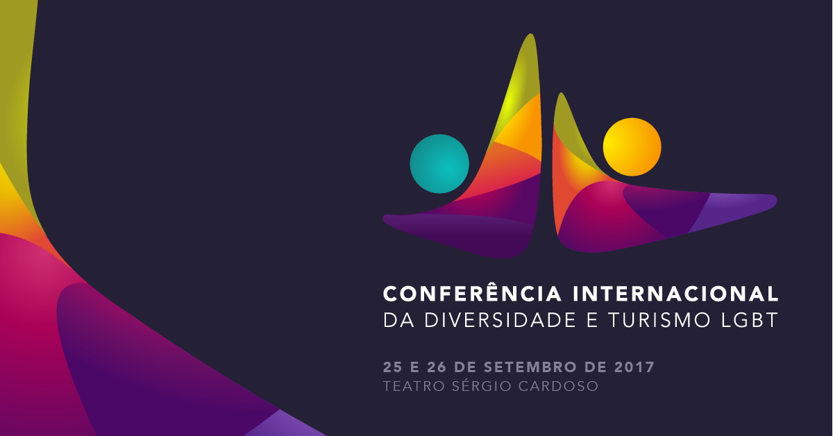 Arte da Conferência Internacional da Diversidade e Turismo LGBT do Brasil de 2017