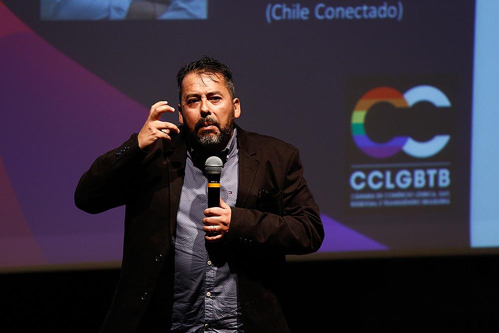 Alex Sanchez, da agência Chile Conectado, na 1ª Conferência Internacional da Diversidade e Turismo LGBT - Foto: Ricardo Cardoso