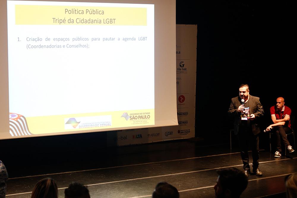 Cassio Rodrigo e Franco Reinaudo apresentam os avanços LGBT no Estado de SP - Foto: Ricardo Cardoso