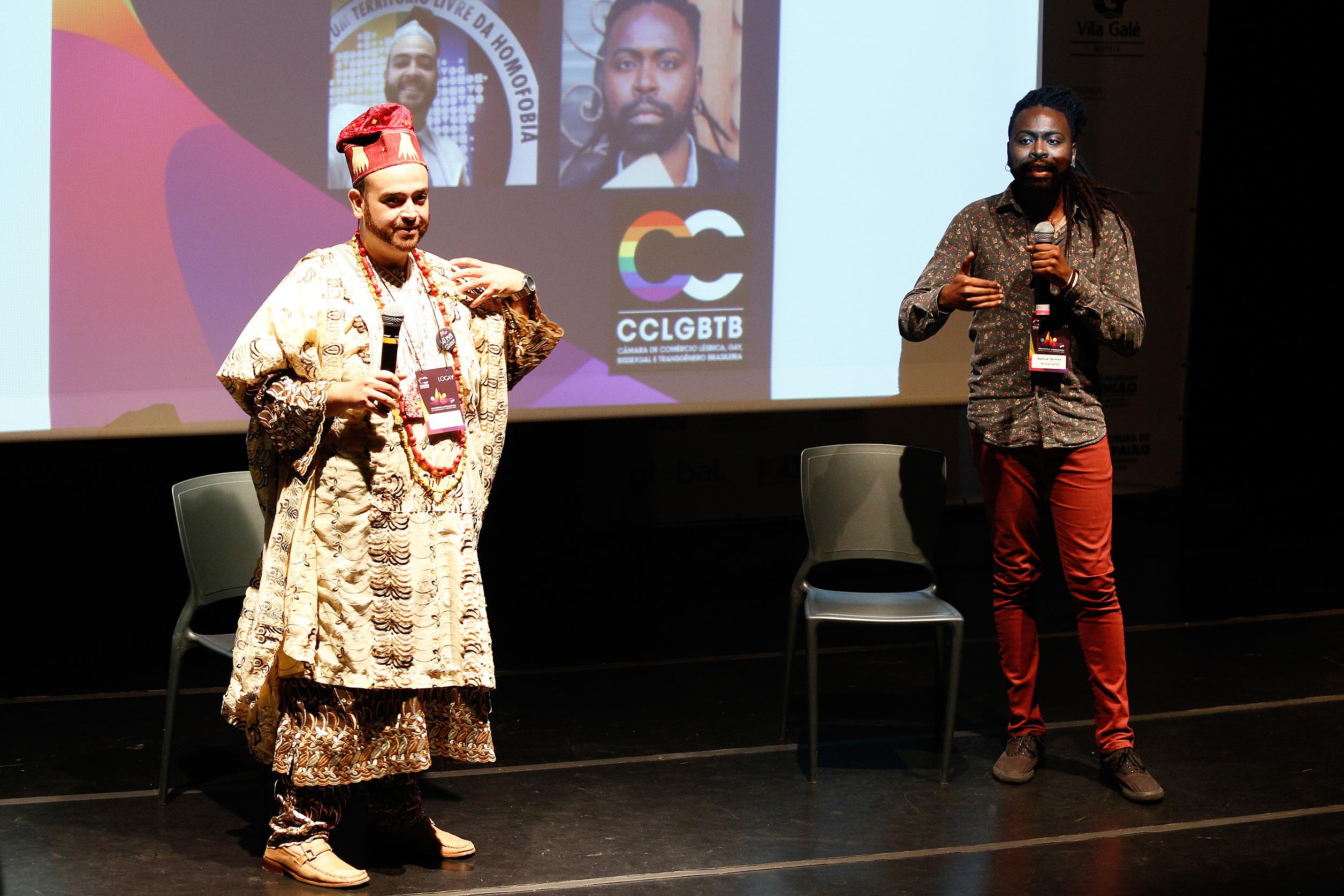 Diego Montone e Samuel Gomes na 1ª Conferência Internacional da Diversidade e Turismo LGBT - Foto: Ricardo Cardoso