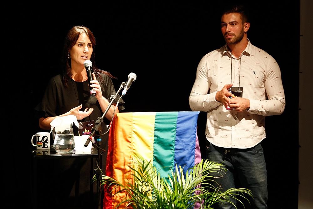 Gisele Abrahão e Rangel Villas Boas na 1ª Conferência Internacional da Diversidade e Turismo LGBT - Foto: Ricardo Cardoso