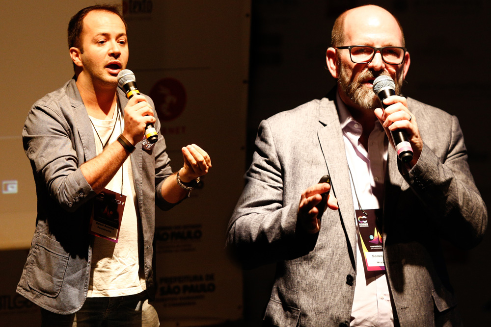 Rafael Bolacha e Gonzalo Rossi na 1ª Conferência Internacional da Diversidade e Turismo LGBT - Foto: Ricardo Cardoso