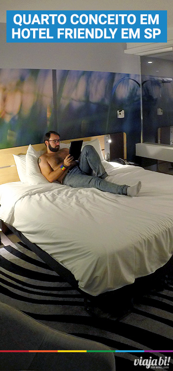 Descansando no N'Room, o quarto conceito do hotel gay friendly Novotel Jaraguá, em São Paulo