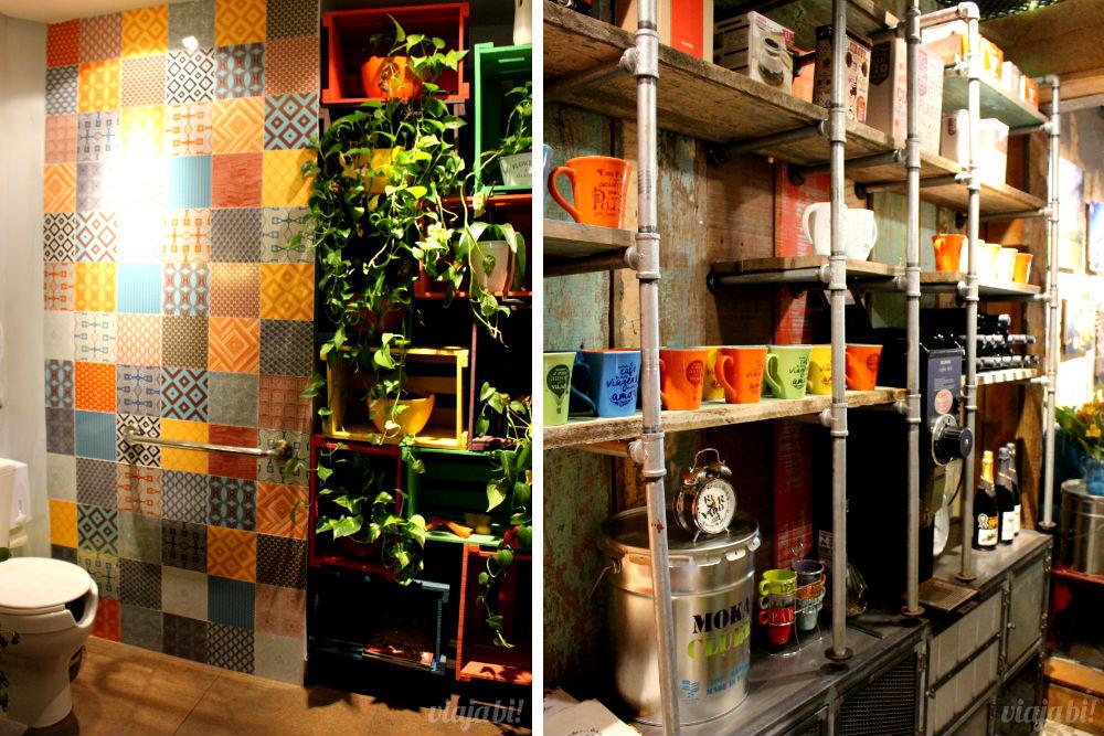 Banheiro e despensa do Café do Viajante, o melhor café em Curitiba