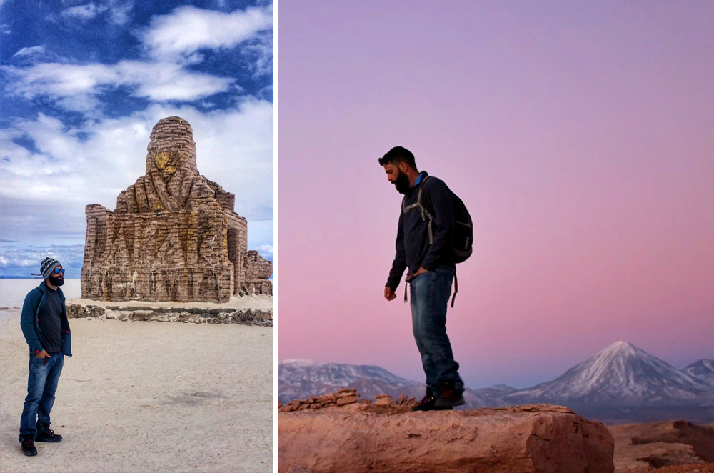 No Salar de Uyuni, na Bolívia, e no Valle de la Muerte, no Deserto do Atacama, Chile - Foto: Jeff Slaid