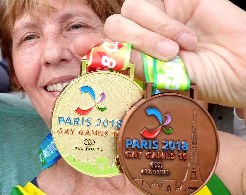 c7d08852fe Elvira Breda levou medalhas de ouro e bronze nos Gay Games Paris 2018 -  Foto
